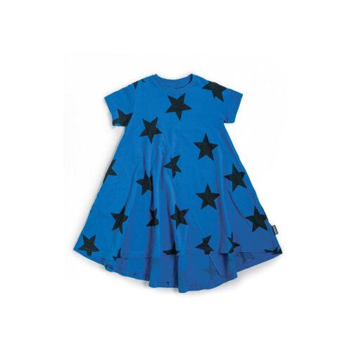 NUNUNU BLUE STAR 360 DRESS - KIDS CURATED APPAREL