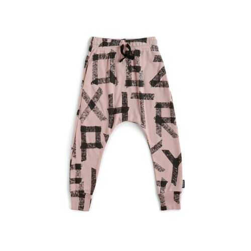 NUNUNU PINK MASKING TAPE BAGGY PANTS - KIDS CURATED APPAREL