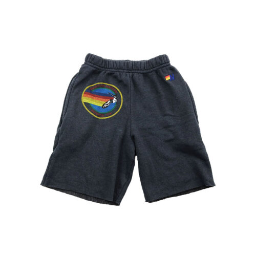 AVIATOR NATION CHARCOAL SWEATSHORTS - KIDS CURATED APPAREL
