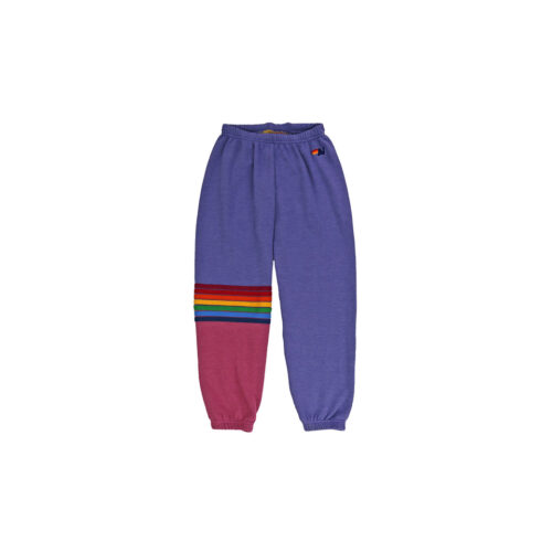 AVIATOR NATION LAVENDER RAINBOW STITCH SWEATPANTS - KIDS CURATED APPAREL