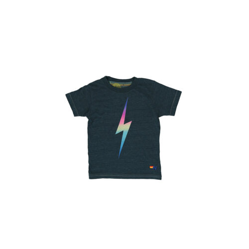 AVIATOR NATION RAINBOW PINK BOLT TEE - KIDS CURATED APPAREL