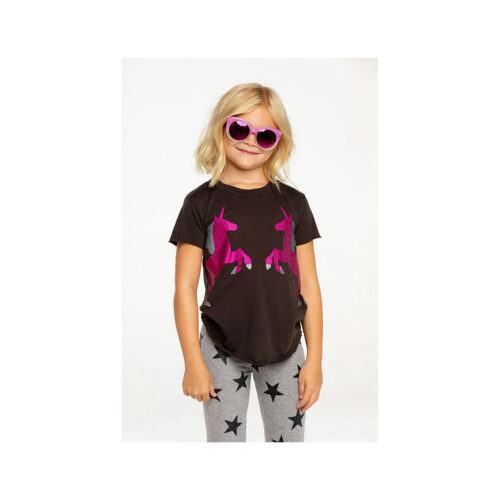 CHASER KIDS SPARKLE UNICORN TEE - KIDS CURATED APPAREL