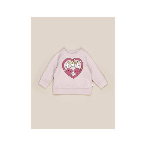 HUXBABY CHERRY HEART SWEATSHIRT - KIDS CURATED APPAREL