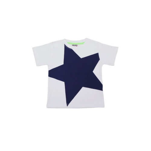 LITTLE MISH NAVY STAR TEE - KIDS CURATED APPAREL
