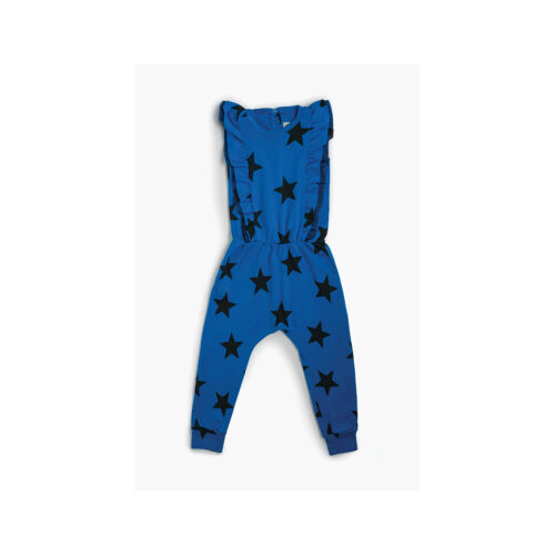 NUNUNU BLUE STAR RUFFLED ROMPER - KIDS CURATED APPAREL