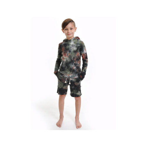 SOL ANGELES OLIVE MARBLE PULLOVER HOODIE - KIDS CURATED APPAREL