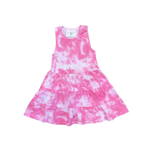 SOL ANGELES PASSION MARBLE TIER DRESS - KIDS CURATED APPAREL
