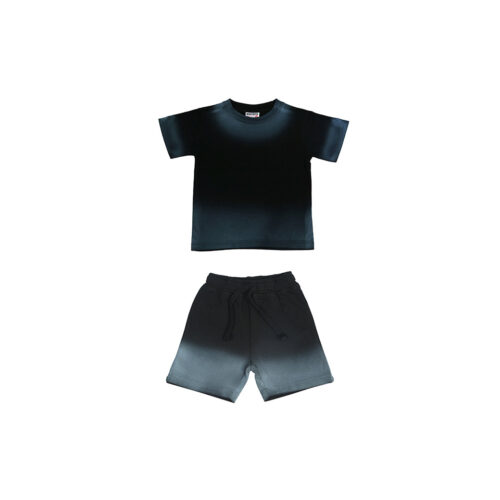 MISH MISH BLACK N WHITE OMBRE SET - KIDS CURATED APPAREL