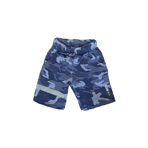 VINTAGE HAVANA CAMO SHORTS WITH STRIPE - KIDS CURATED APPAREL