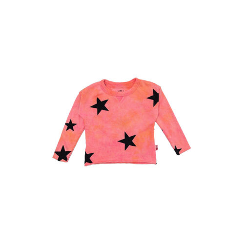 T2LOVE NEON STAR CREW PULLOVER - KIDS CURATED APPAREL
