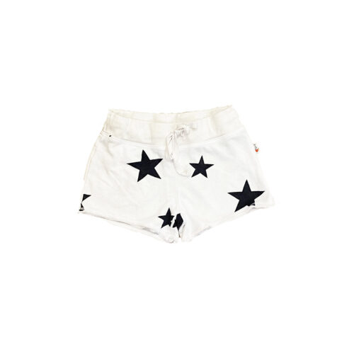 T2LOVE WHITE STAR SHORTS - KIDS CURATED APPAREL