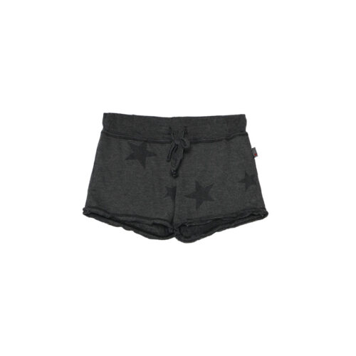 T2LOVE CHARCOAL STAR RAW SHORTS - KIDS CURATED APPAREL