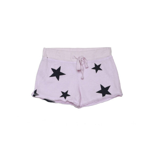 T2LOVE PINK STAR RAW SHORTS - KIDS CURATED APPAREL