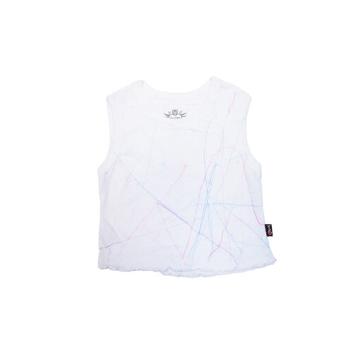 T2LOVE CRAYON SCALLOPED EDGE TANK - KIDS CURATED APPAREL