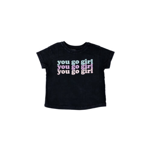 TINY WHALES YOU GO GIRL TEE - KIDS CURATED APPAREL