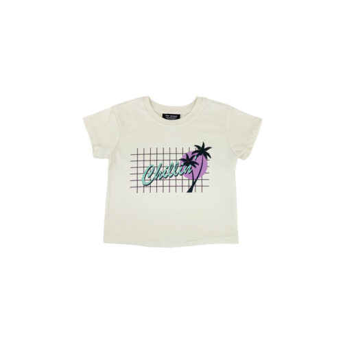 TINY WHALES CHILLIN BOXY TEE - KIDS CURATED APPAREL